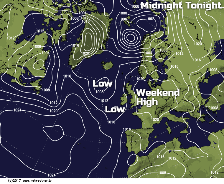 Low pressure moving in