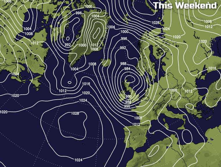 Low pressure this weekend