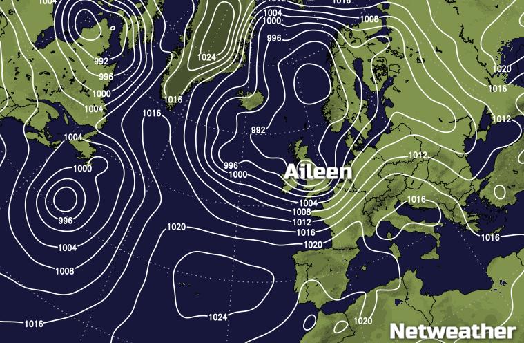 Storm Aileen Inbound Today