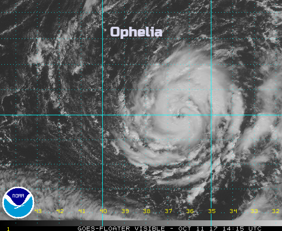 Ophelia, mid Atlantic wanderer heading north next week