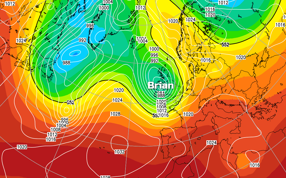 Storm Brian Inbound To Bring A Wet And Windy Start To The Weekend