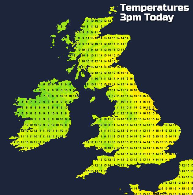 Temperatures Today