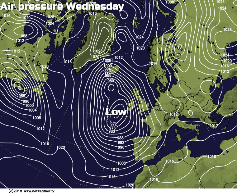 Low pressure on Wednesday