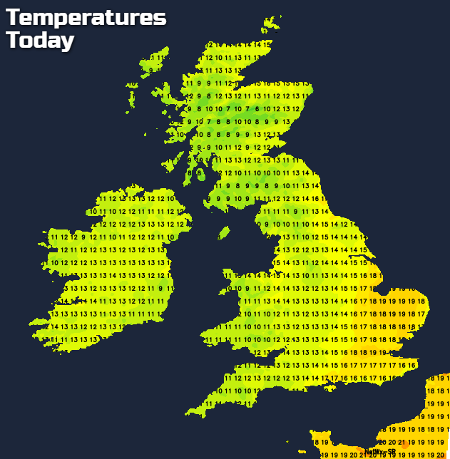Temperatures Today