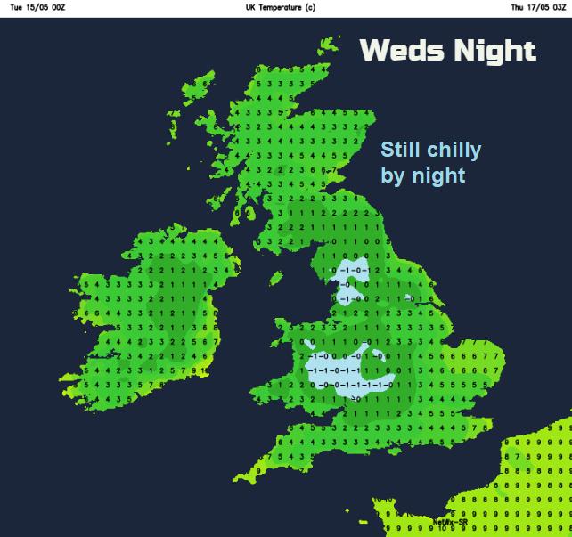 frost UK wednesday night