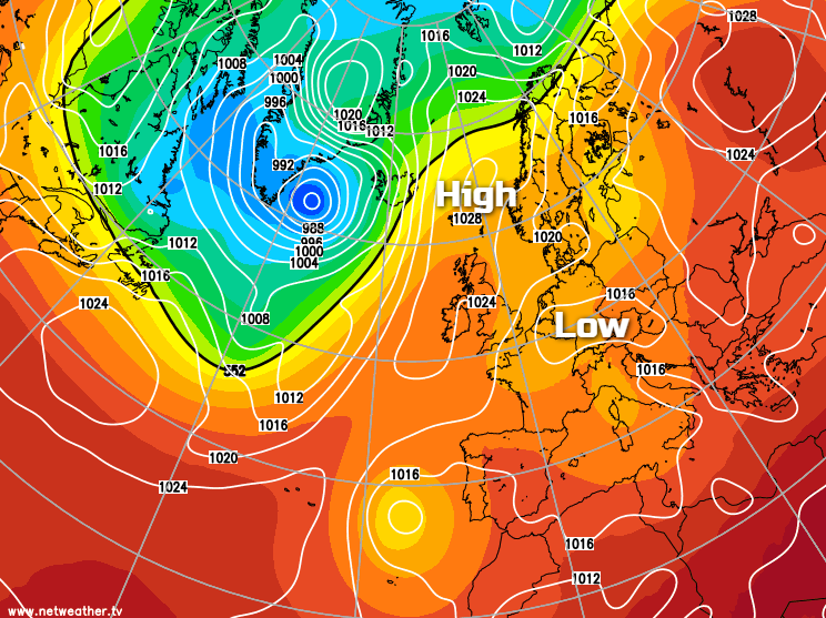 High pressure to our northeast this week