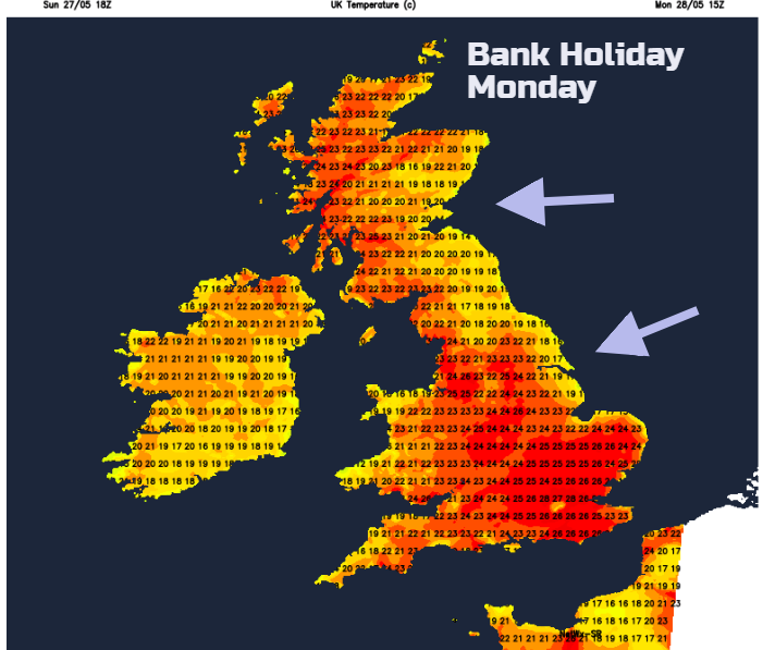 heat Bank Holiday UK