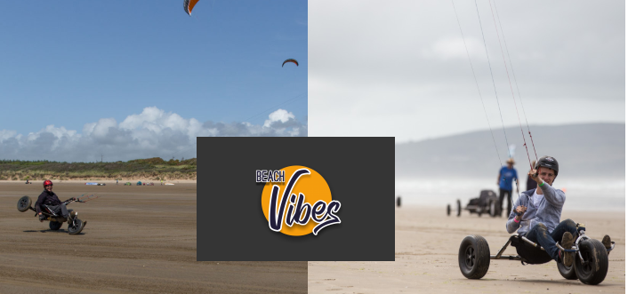 Beach Vibes  Weather Pembrey. Land sailing 16th 17th June 2018