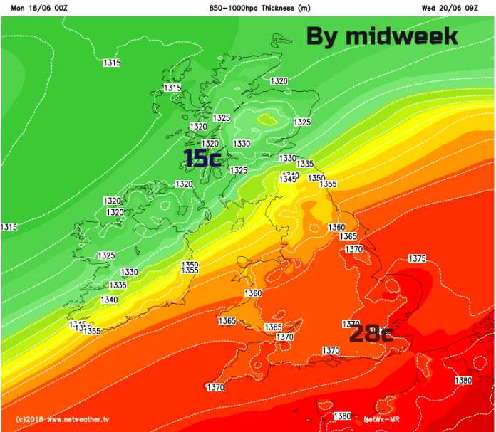 UK Weather - Warming up in the south, blustery and Cool further north. Patchy Rain inbetween