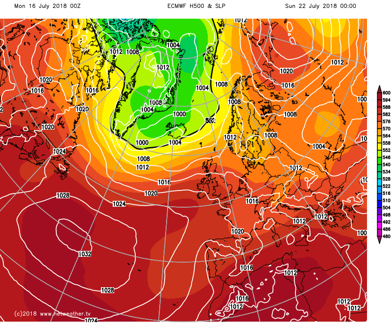 High pressure back at the weekend