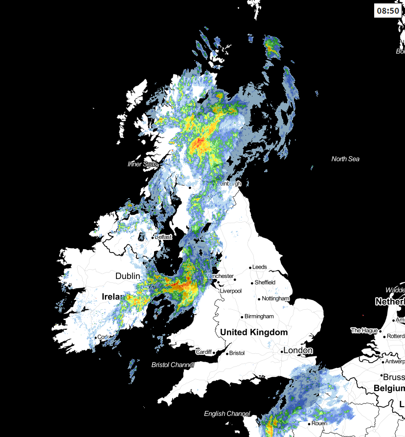 Radar at 0850 this morning