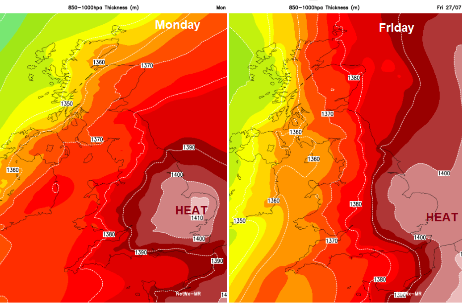 Heat, thickness, heatwave, high temperatures