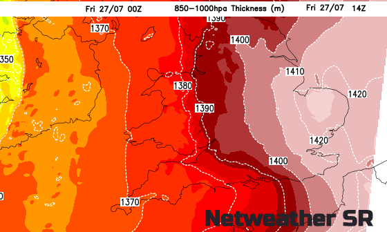 Map Of Just England.Uk Weather Record Attempt For Hottest July Day Eastern England