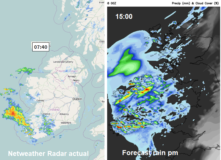 4737f989e7da There is a mostly dry start across the UK. There are bands of thicker cloud  and some of these