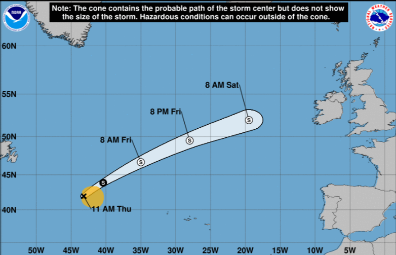Wet weather this weekend from remnants of Atlantic storm Ernesto