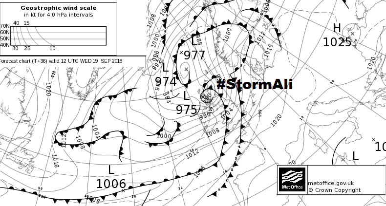 Windy Today Then Even Windier Tomorrow, As #StormAli Hits The North