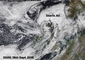 Storm Ali - A wild Wednesday. Two dead and travel disruption as  Severe Gales hit British Isles
