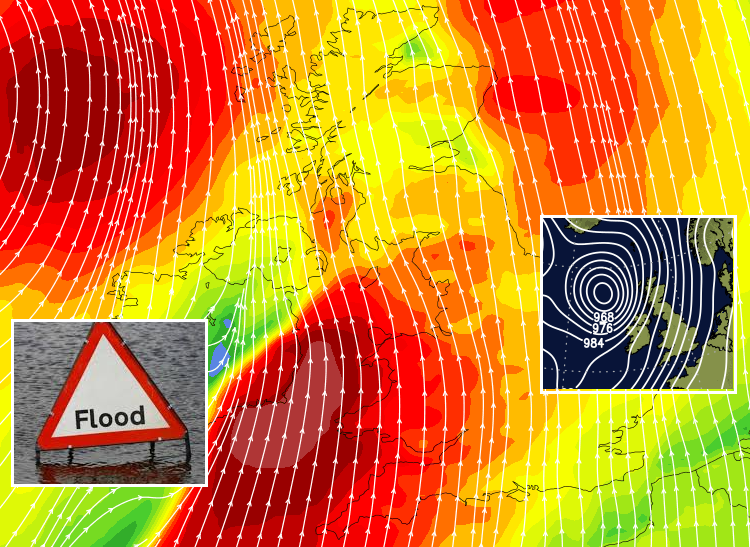 UK Weather - Storm Callum lashes UK & Ireland as Rain just keeps on coming this weekend