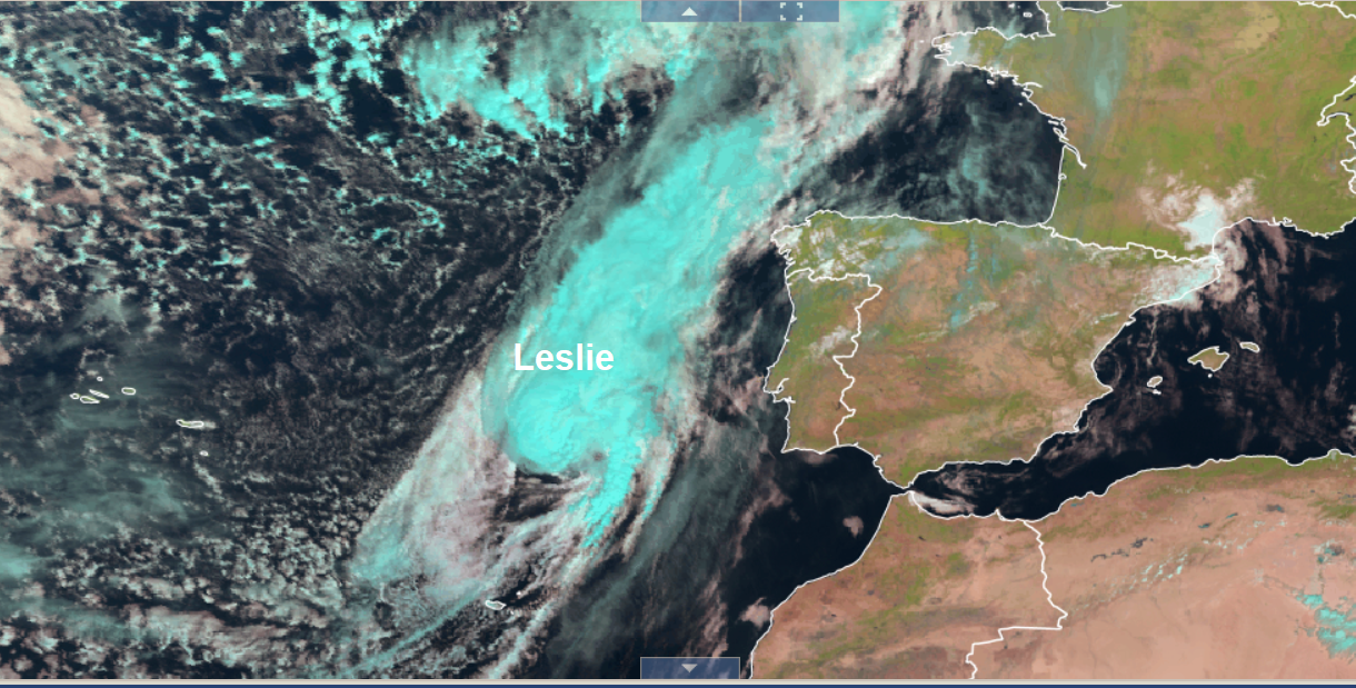 Hurricane Or Not, Leslie Makes A Rare Landfall Across Portugal Tonight