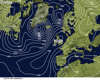 High pressure in charge bringing plenty of Autumn sunshine