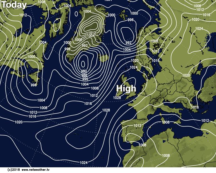 High pressure in charge bringing plenty of Autumn sunshine