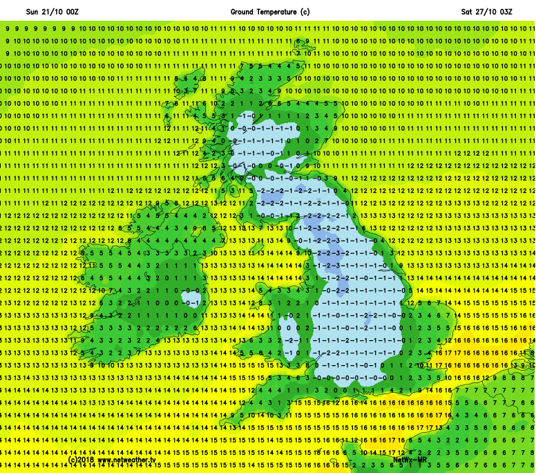 Widespread frosts this weekend