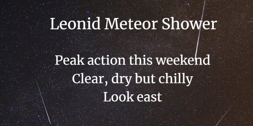 Leonid Meteor shower Saturday night