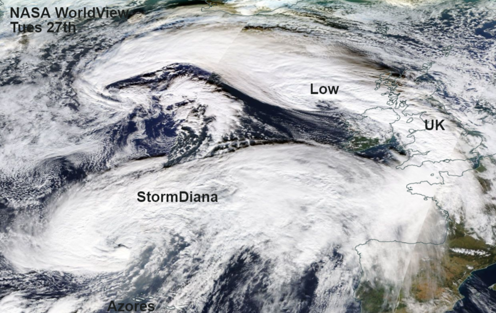 Is this Storm Diana, or not yet? A collection of low pressures all bringing gales and rain