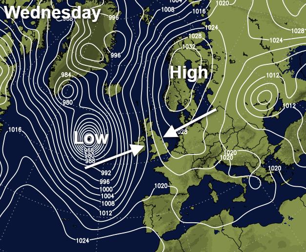 Weather battle on Wednesday