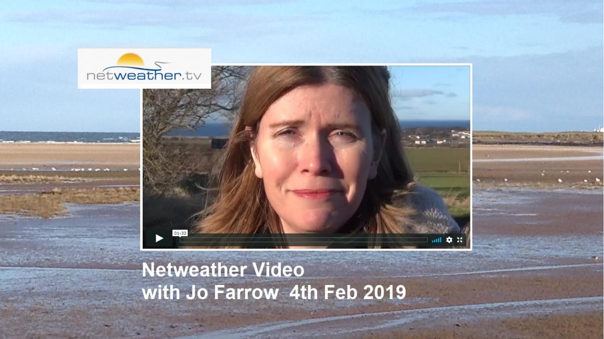 VIDEO - UK weather. Snow is out, rain and brisk winds are in, with a milder southwestely flow