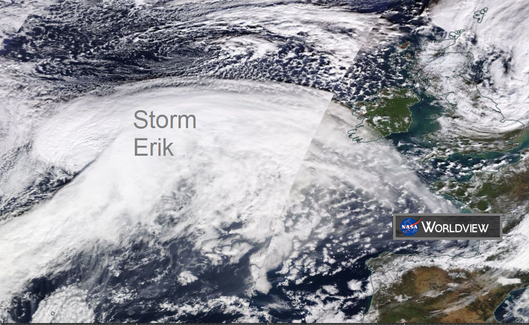 Storm ERIK- End of week gales, high gusts, large waves and heavy rain for Ireland and UK