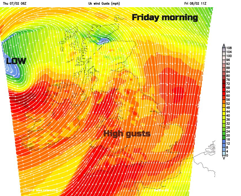 Gusty Saturday as Storm Erik brings wet and windy weather