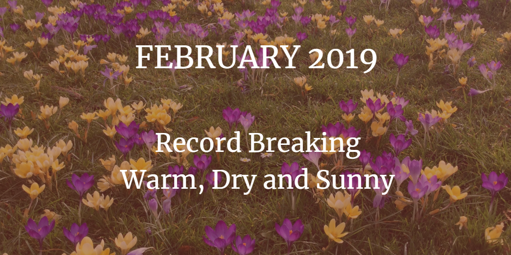 February 2019: Record breaking and quite remarkable. More extreme weather.