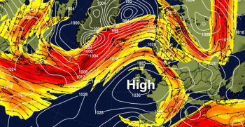 Jet Stream heading north and Spring is springing