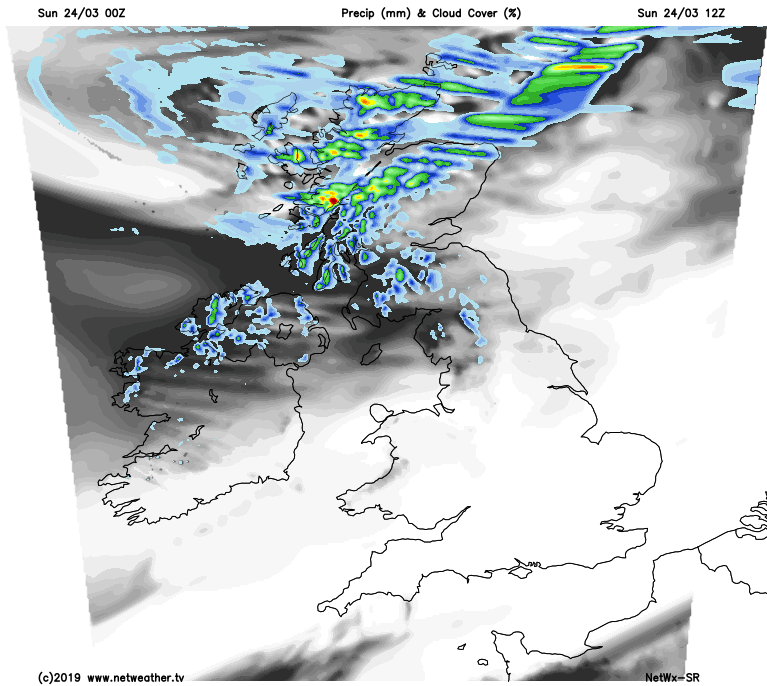 Showers across Scotland today