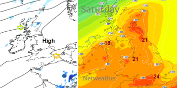 Easter Weekend Weather Day by Day, what changes, highest temps and what is the wind doing