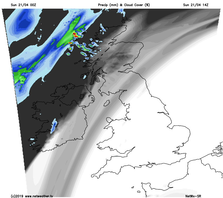 Cloudier with some rain in the far Northwest