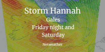 Storm Hannah: Atlantic low pressure with gales, where and when.