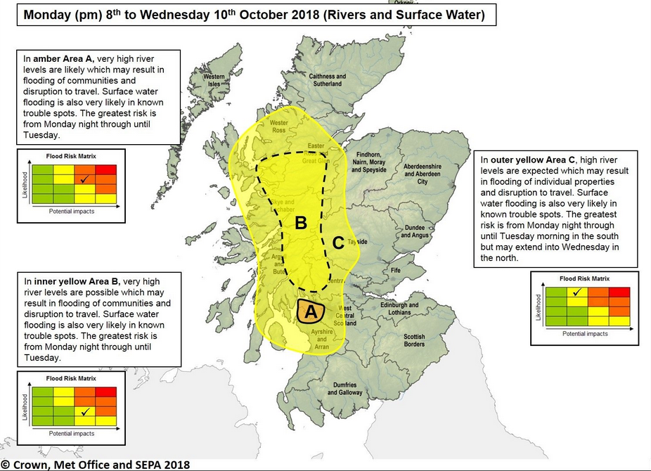 SEPA flood risk map of Scotland