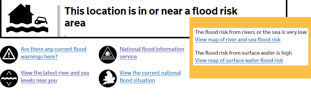 Flood risk options