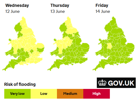 3day outlook for flood warnings
