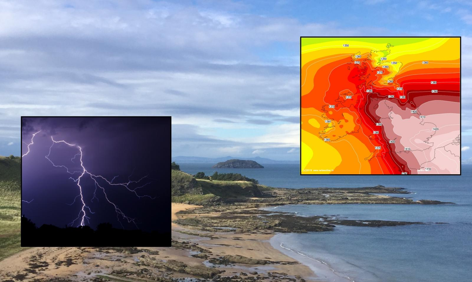 UK Weather:  End of June heat and thunderstorms arrive after a bright Midsummer and fine weekend