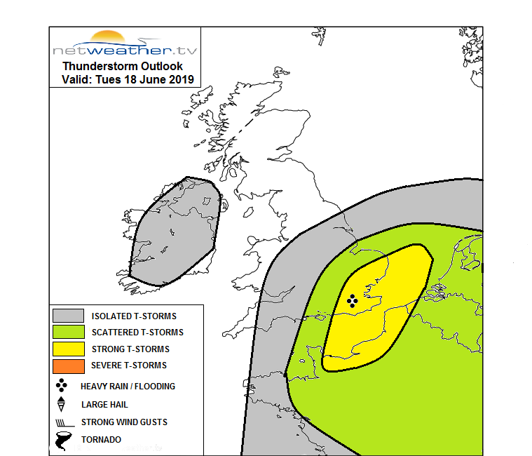 Storm forecast chart Thunderstorm UK