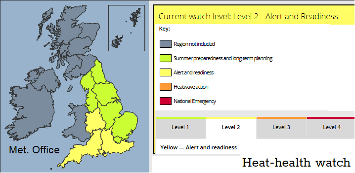 Met Office Heat Health warning