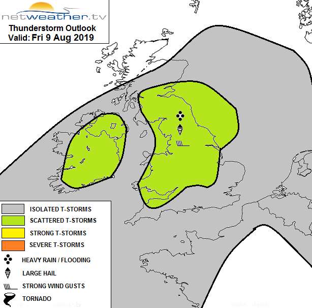 Stoprm forecast map for today