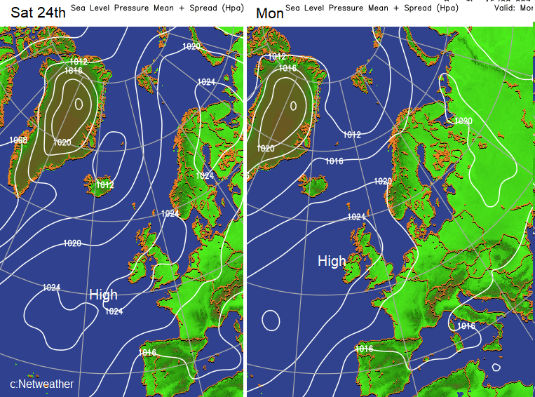 High pressure for August Bank Holiday weekend