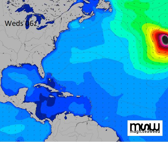 Hurricane Lorenzo swell