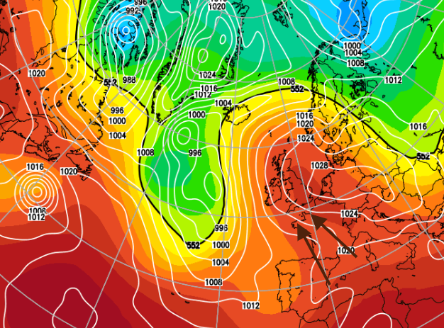 After sunny, settled and warm weather, up to 25C,  next week brings wind and rain
