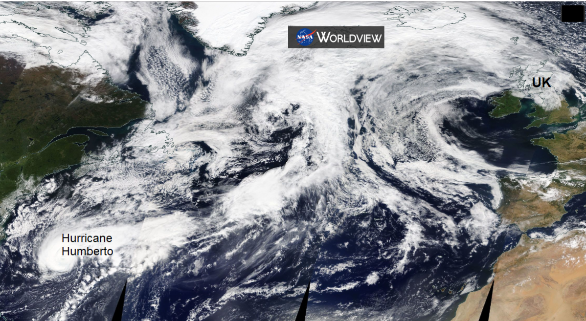 How Hurricane Humberto could influence our UK weather next week
