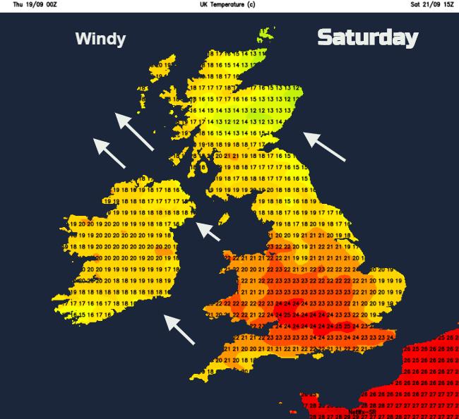 UK Saturday weather